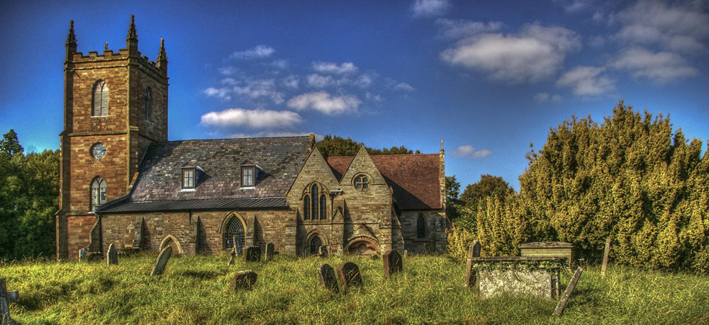photoblog image Hanbury Church